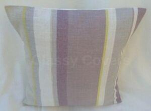 "Laura Ashley Designer Cushion Cover ""EATON STRIPE"" Amethyst Fabric Various Sizes"
