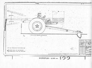 WW2 M3 M3A1 37mm Anti-tank Gun Blueprints Historic 1940 Archive period drawings