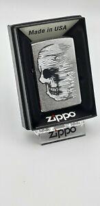 Original Zippo - Skull lined design  - 2019 -  Neu 60004413