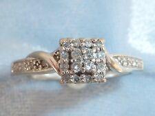 10K White Gold  Keepsake Ring, 22, 1.25mm Diamonds, TCW .22 carat, size 7