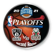2021 NBA Second Rond Collecteur Broche Brooklyn Nets Milwaukee Bucks Playoff