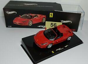 Ferrari 458 Spider - Mattel Hotwheels with Case & Box