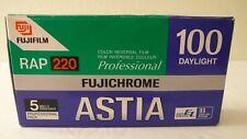 RARE NEW 5PK FUJICHROME FUJI ASTIA RAP ISO 100 220 120 COLOR FILM FRIDGE EXP 03