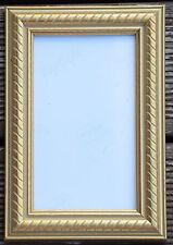 2 Bilderrahmen Fotorahmen mit Glas goldfarbig