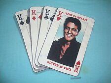 Vintage 1980's ELVIS PRESLEY King Of Hearts 1987 rockabilly T Shirt Adult size L