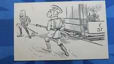 RARE WW1 SCARBOROUGH Comic Postcard Anti Kaiser British BULLDOG Corp Tramway