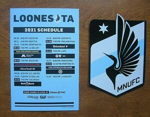 2021 Minnesota Loons Soccer Schedule and Logo Magnet