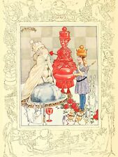 PAINTING ALICE IN WONDERLAND RED WHITE QUEEN LARGE WALL ART PRINT POSTER LF2076