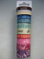 New~Michaels Recollections Scrapbook Washi Tape~Marble Words~8 Rolls~Foil~65 Yds