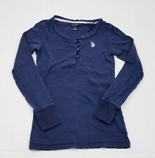 Girls Long Sleeve Navy Blue U.S. Polo Assn Knit Shirt Sz XS
