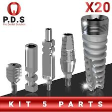 20X Dental Set Implant Spiral & St. Abutment & Transfer & Analog & Healing Cap