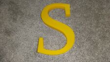 FABULOUS VINTAGE INDUSTRIAL SHOP LETTER 'S' IN YELLOW PERSPEX SHOP SIGN!