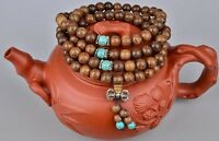7mm*108 Sandalwood Buddhist Buddha Meditation Prayer Bead Mala Bracelet/Necklace