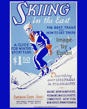 """Skiing in the East WPA poster Photographic reprint 8""""x10"""""""
