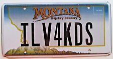 Montana 2007 VANITY License Plate I LOVE FOUR KIDS