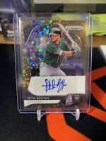 Seth Brown Panini Prizm Baseball Rookie RC Auto /25 Bronze Oakland A's