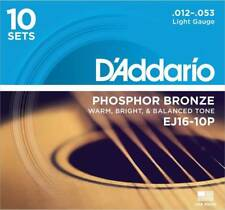 D'Addario EJ16-10P Box of 10 Phosphor Bronze .012-.053 Acoustic Guitar Strings