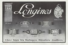 Publicité Montres  LONGINES  Montre Watch photo vintage print ad  1930  - 6h