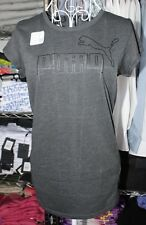 PUMA WOMENS SIZE 12  T SHIRT DRYCELL COLOR CHARCOAL ACTIVE GYM  WEAR