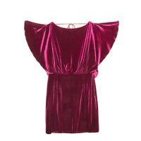 Jessica Simpson Dress  Burgundy Velvet Cocktail Party Dress 10