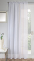 SPARKLY DIAMANTE CRYSTAL STONES WHITE LINEN  JEWELLED VOILE NET CURTAIN PANEL