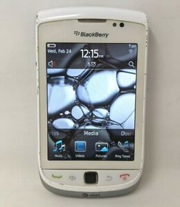 VTG AT&T Blackberry Torch 9800 4GB White Smartphone 3G Wi-Fi Cell Phone PR21