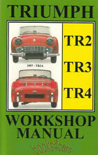 TRIUMPH SHOP MANUAL SERVICE REPAIR BOOK TR4 TR3 TR2 RESTORATION WORKSHOP GUIDE