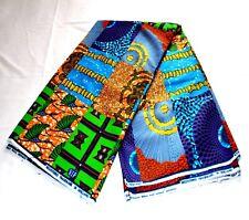 African Wax Metallic Print Fabric / Ankra Metallic Print / 6 Yards Piece