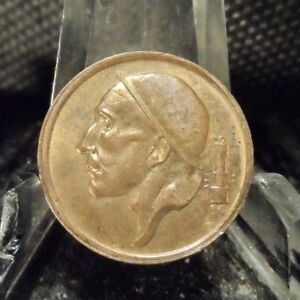 CIRCULATED 1953 20 CENTS BELGIUM COIN (81918)1.....FREE DOMESTIC SHIPPING