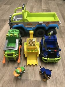 PAW Patrol All Terrain Vehicle Jungle Police Cruiser, Digger & Refuse Car Bundle