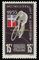 EBS Germany 1955 SAAR - World Bicycle Championship - Michel 357 MNH**