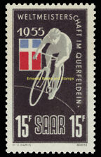 EBS Germany 1955 SAAR - World Bicycle Championship - Michel 357 MNH**