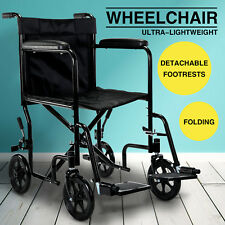 Adult/Teen Lightweight Transit Portable Folding Travel Wheelchair With Brakes