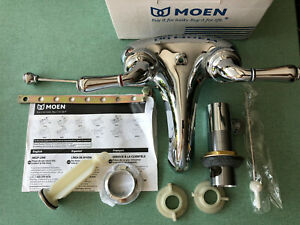 Moen 4551 Monticello Chrome 2 Handle Lavatory Faucet With Waste