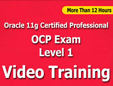 Oracle 11g Certified Professional OCP Level 1 Video Training Tutorial CBT 12+ Hr