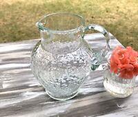 Antik Kanne Krug Glaskrug Karaffe Glas türkis Wasserkrug kleine Dubben