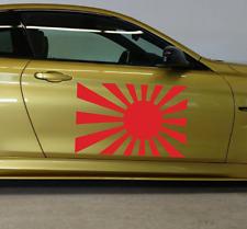 2x Japon Drapeau Autocollant XL Rising Sun guerre drapeau Japon des Autocollants JDM Porte