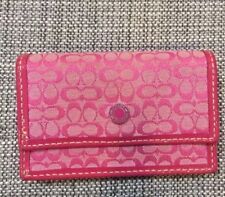 COACH Accordian Pink Card Case Wallet