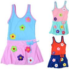 Toddler Baby Girls One-piece Swimsuit Flower Bowknot Swimwear Beachwear Welcome