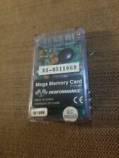 Performance Mega Memory Card P-1110W for Sony PlayStation 1 / PS1 or PS2