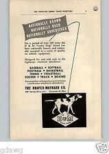 1952 PAPER AD D&M Lucky Dog Logo Draper & Maynard Baseball Boxing Football Track
