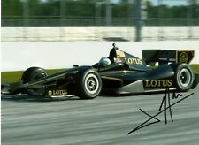 Jean Alesi 2012 Indy Indianapolis 500 Lotus Grand Prix F1 Ferrari signed photo