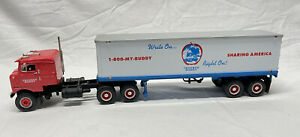 First Gear Kenworth Truck Company Bullnose Tractor Trucker Buddy Trailer Red 🚚