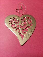 Victoria's Secret Ornament Metal Gold Heart Christmas Tree