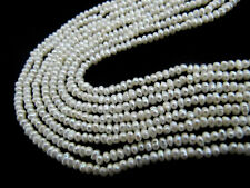 Natural Pearl White Gemstone Beads 2mm To 2.5mm Beads 16 inches Long Strand.