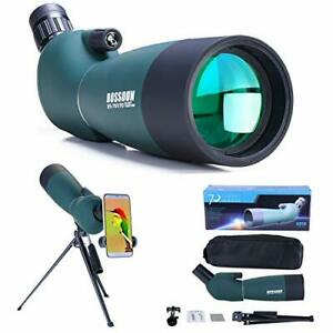 25-75x70 Spotting Scope | With Tripod, Carrying Bag and Smartphone Adapter