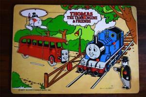 Vintage 1995 Thomas & Friends Wooden Peg Puzzle -Tank Engine Wood Britt Allcroft