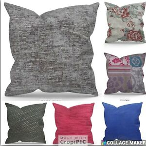 """X Large grey chenille Cushions Cushion cover  24"""" 22"""" 26""""  Set Of 2  All Colors"""