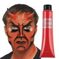 RED DEVIL Face Paint Cream Make Up Halloween Party Costume Fancy Dress (977005)