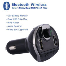 Bluetooth V4.2+EDR MP3 Player USB Car Charger FM Transmitter for iPhone X 8+7 LG